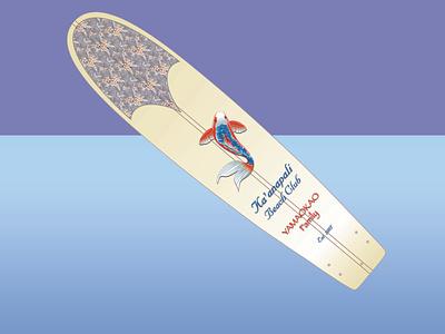 Surfboard Art illustration design