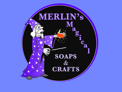 Merlin s  WIZARD logo vector logo illustration branding design