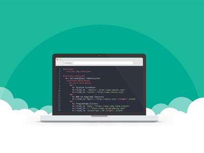 Bulutfon Developers page header image design.