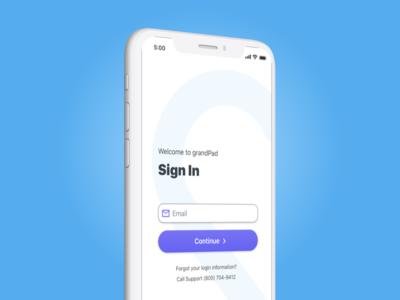GrandPad iOS App Redesign