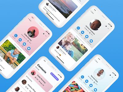 GrandPad iOS App - Contacts mobile app iphone x iphone ios ux ui grandpad