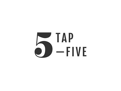 Tap Five Logo tap five branding logo