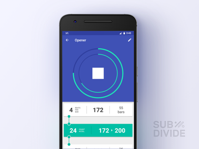 Subdivide Tracks UI android app metronome subdivide tap five ui
