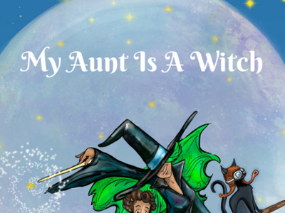 My Aunt Is A Witch family fun apple google amazon coloring book reading book app game games books children holidays halloween branding illustration childrens book