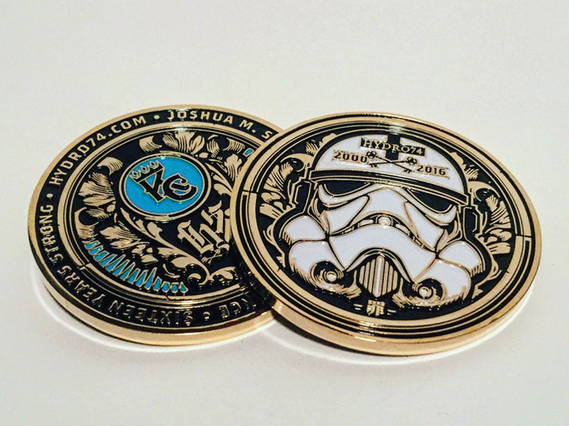 Hydro74 Business Card Coin V.2 by Joshua M. Smith - Dribbble