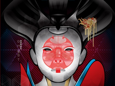 Ghost in the Shell geisha vector shell ghost