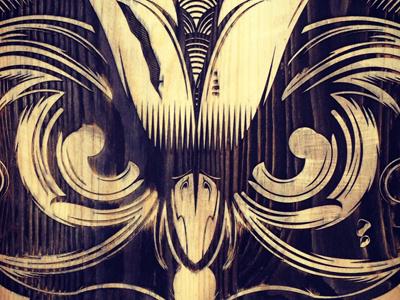 Laser Engraved Owl hydro74 owl vector laser etched