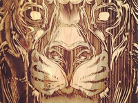 Engraved Lion