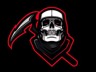 Fortnite Skull Trooper mascot fortnite reaper grim trooper skull illustration vector