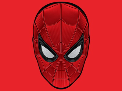 Spiderman - Far from Home etching spiderman marvel illustration vector