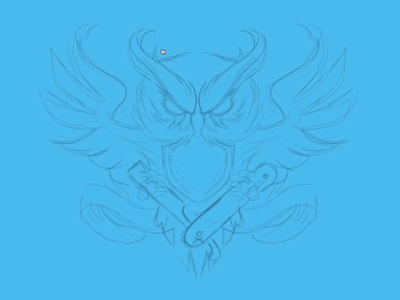 Owl Time-Lapse vector art straight razor owl illustration vector