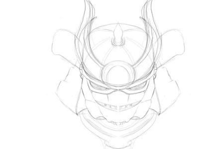 Stormtrooper Samurai mascot wars star samurai empire trooper storm illustration vector