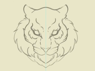 Defiance Tiger mascot tiger illustration vector
