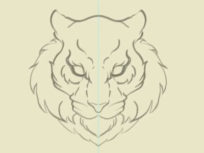 Defiance Tiger mascot tiger illustration vector