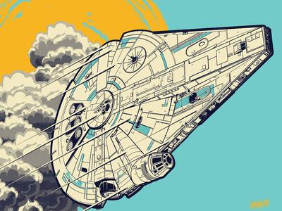 Solo Xbox falcon solo han wars star illustration vector