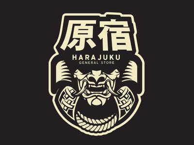 Harajuku vector art japan samurai illustration vector