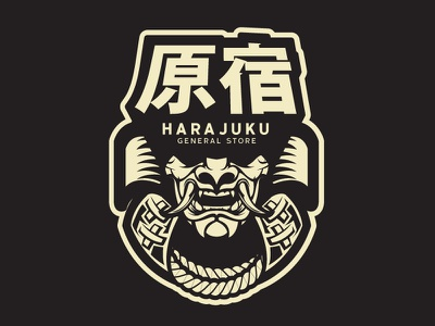 Harajuku vector art japan samurai illustration vector
