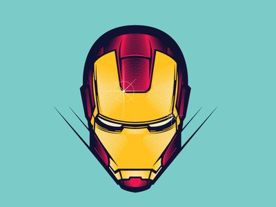 Ironman vector art etching man iron marvel illustration vector