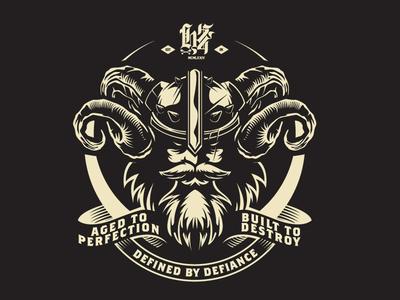 Built to Destroy Viking vector art valhalla viking illustration vector