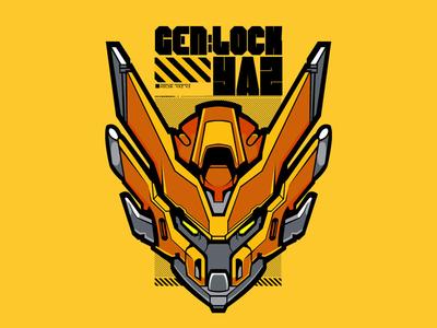 Gen:Lock roosterteeth genlock mecha illustration vector