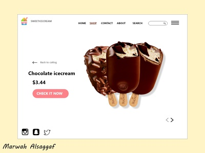 ice cream website website adobe xd designer adobexd adobe xd web designer webdesign designer ux ui design