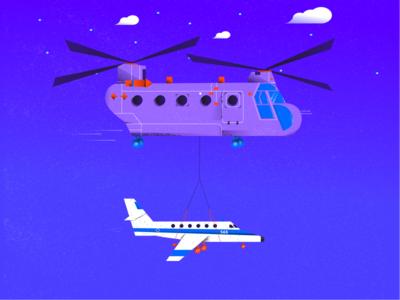 Boeing Chinook flight mission
