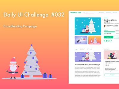 DailyUI 032 crowdfunding crowdfunding campaign webdesign ux dailyuichallenge adobe xd ui design dailyui daily ui