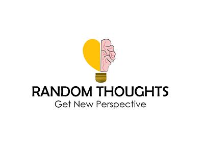 Creative Thinking Logo thoughtful random innovative creative logo design logo flat branding