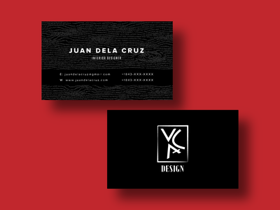 Business Card Template Design (Version 2) card business identity illustration wood logo business card design business card branding design branding