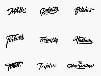 Handmade Custom lettering logo Design calligraphy logo typography logos logotype logo design lettering branding logo
