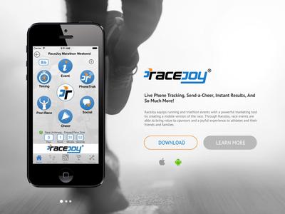 Racejoy Website Landing Page