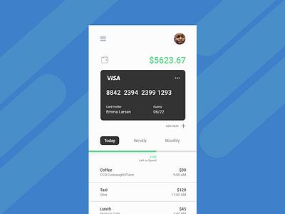 Finance Mobile App UI ux ui sketch  expense graphics finance payment charts card bank app