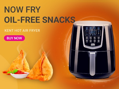 Hot Air Fryer social media creative social media ad web typography shopify google display color bright bold advertising ads ad