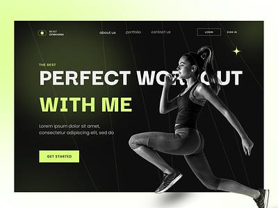 FREE UI Banner training gym workout ui logo illustration fashion posterdesign branding banner typography graphic design design