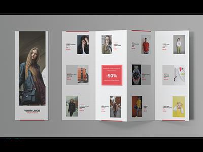 Fashion Look 4-Fold Brochure corporate brochure design business brochure fashion look brochure fashion brochure 4 fold brochure advertising branding brochure design brochure
