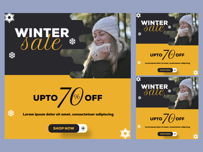 winter instagram post banner dribbble best shot banner design banner ad winter banner instagram post social media banner sale banner banner