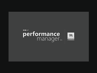 JBL Performance Manager