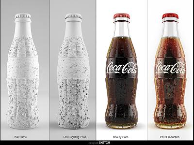 Process Small vray corona render pack shot studio render design at sketch hero shot bottle render product render 3d render cg render cg bottle