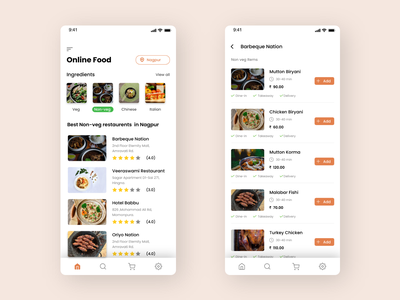 Online food delivery App application ui mobile ui mobile design apple ui design ux design uxui ios