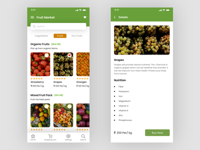 Fruit shop android ui ux ui design mobile ui android app design mobile design design application ui ux design