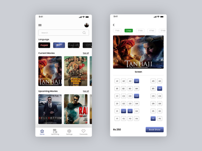 Online Movie ticket booking app uiux movie ticket ui design ux ui mobile ui design ux design
