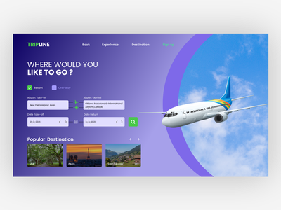 Tripline web design web development air travellers web app web. ui webdesign