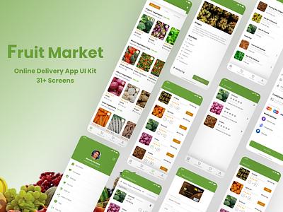 Fruit Market-Online Delivery App UI kit application ui uxui mobile design ios mobile ui ux ui ui design ux design