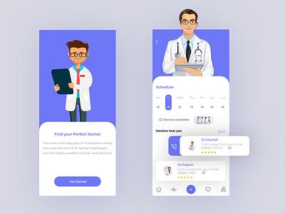 medical app Screens hospital app illustration design ux ui uxui mobile ui ui design ux design