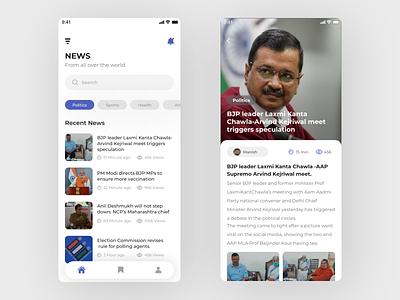 NEWS App Screens ios app design news app ui news app mobile design ios mobile ui ui ux design uxui application ui ui design ux design