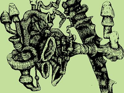 Shrooms vector illustration design