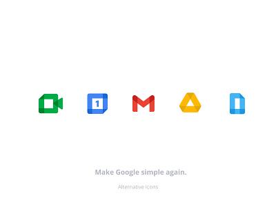Google Icons recoloured - Free Figma free illustration flat vector design figma set minimal branding icons