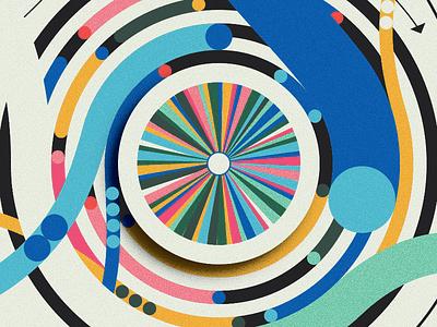 Script & Seal Color Wheel money car bird explosion dataviz data infographic bright colors wheel