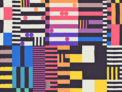 RAINBOWS geometric beach sunset grid blocks shapes study composition abstract colors rainbow