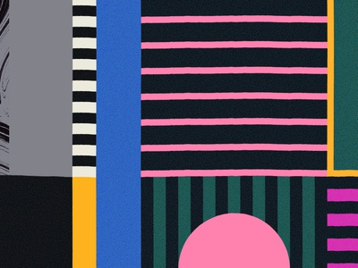 Compositional Thing art blanket rug pattern texture blocks city situationist derive urban colors abstract